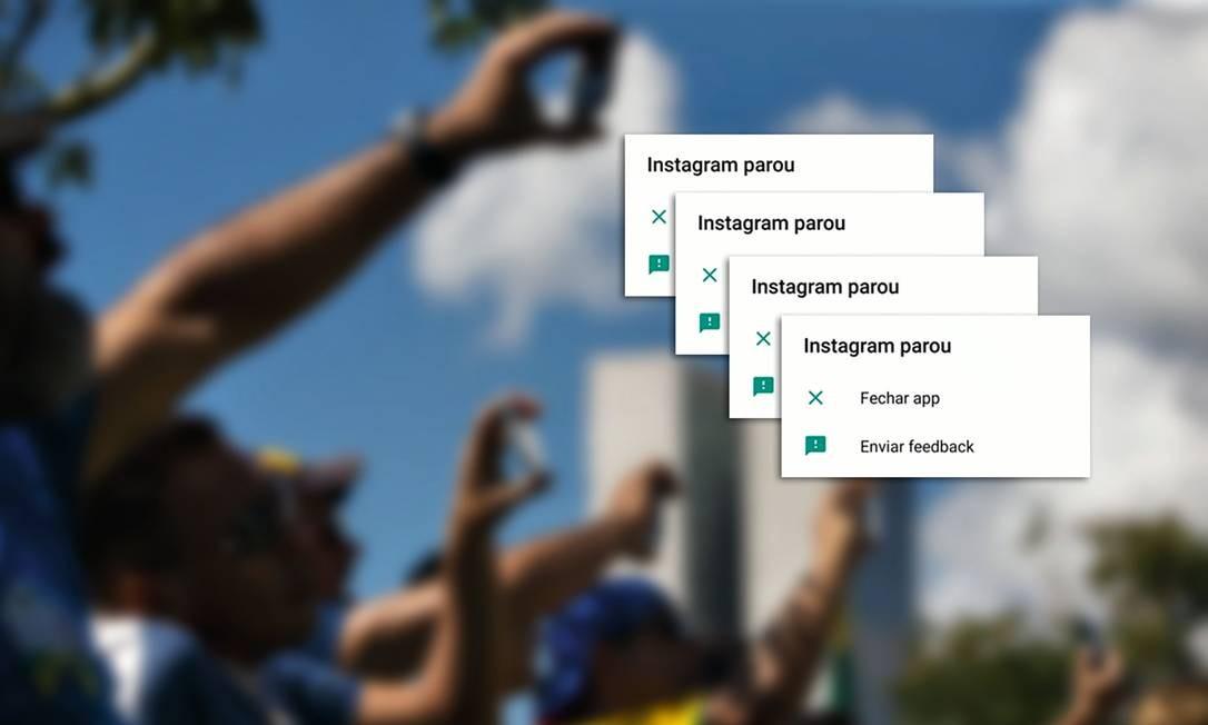 As redes sociais pró-Bolsonaro foram mais fortes, mas os protestos a favor da Educação foram mais numerosos. Foto: Montagem sobre foto de Daniel Marenco / Agência O Globo