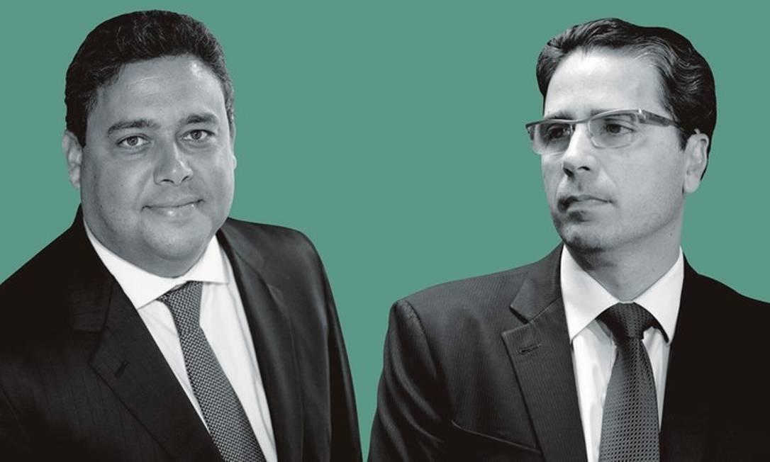 Felipe Santa Cruz e Fábio Nóbrega. Foto: Montagem sobre fotos de Daniel Marenco / Agência o Globo; e ASCM / MPES