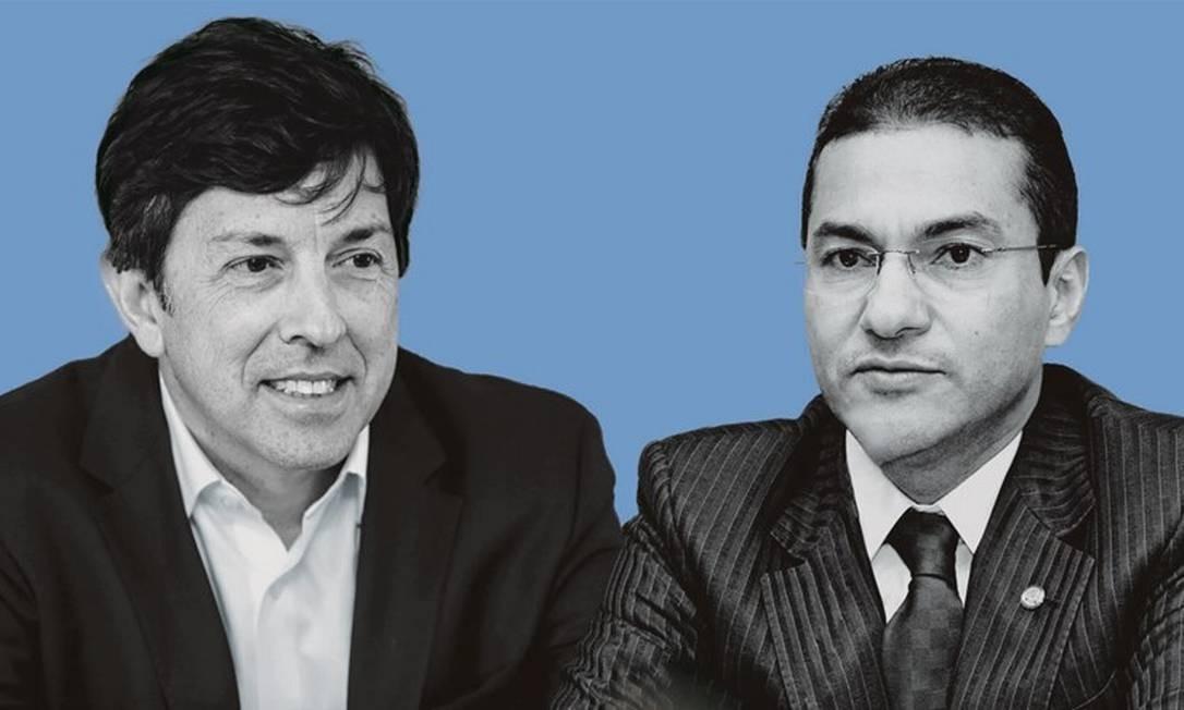João Amoêdo (à esquerda) e Marcos Pereira. Foto: Montagem sobre fotos de Geraldo Bubniak / AGB; e Miguel Ângelo / CNI