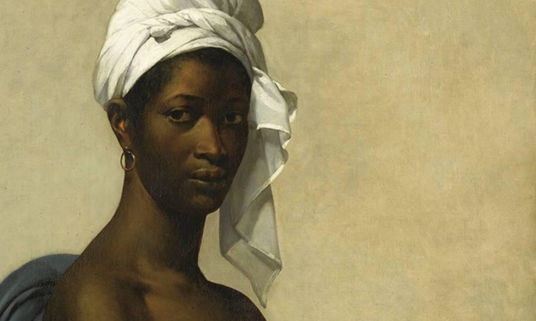 """O quadro """"Retrato de uma negra"""" (1800), da pintora Marie-Guillemine Benoist, foi renomeado na exposição do museu Orsay, em Paris, com o verdadeiro nome da modelo e virou """"Retrato de Madeleine"""". Foto: Gérard Blot / RMN-Grand Palais (Musée du Louvre)"""