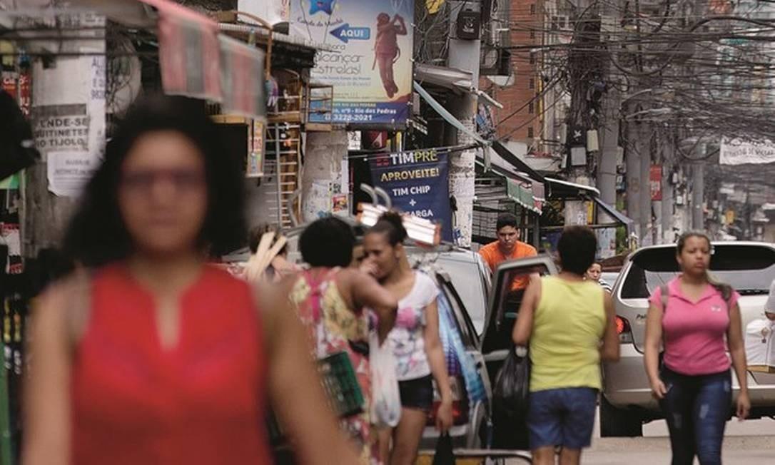 Localizado na Zona Oeste do Rio de Janeiro, Rio das Pedras viveu no início sob o controle da chamada Polícia Mineira, bem-vista pela comunidade. Ela depois foi substituída pelos milicianos, que ganharam poder na comunidade por intermédio do medo. Foto: Márcia Foletto / Agência O Globo