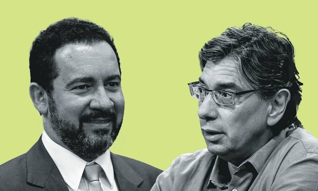 Dyogo Oliveira (à esquerda) e Marcio Pochmann. Foto: Montagem sobre fotos de Marcelo Camargo / Agência Brasil; e Eduardo Anizelli / Folhapress