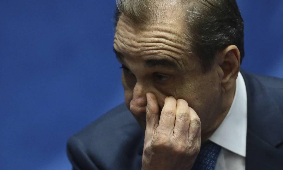 Agripino Maia, senador por quase três décadas, conta todos os meses com R$ 32.894 de aposentadoria. Foto: Jorge William / Agência O Globo