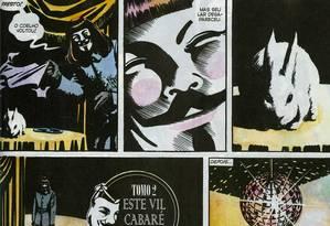 """""""V de vingança"""", escrito por Alan Moore e desenhado por David Lloyd. Foto: Reprodução"""