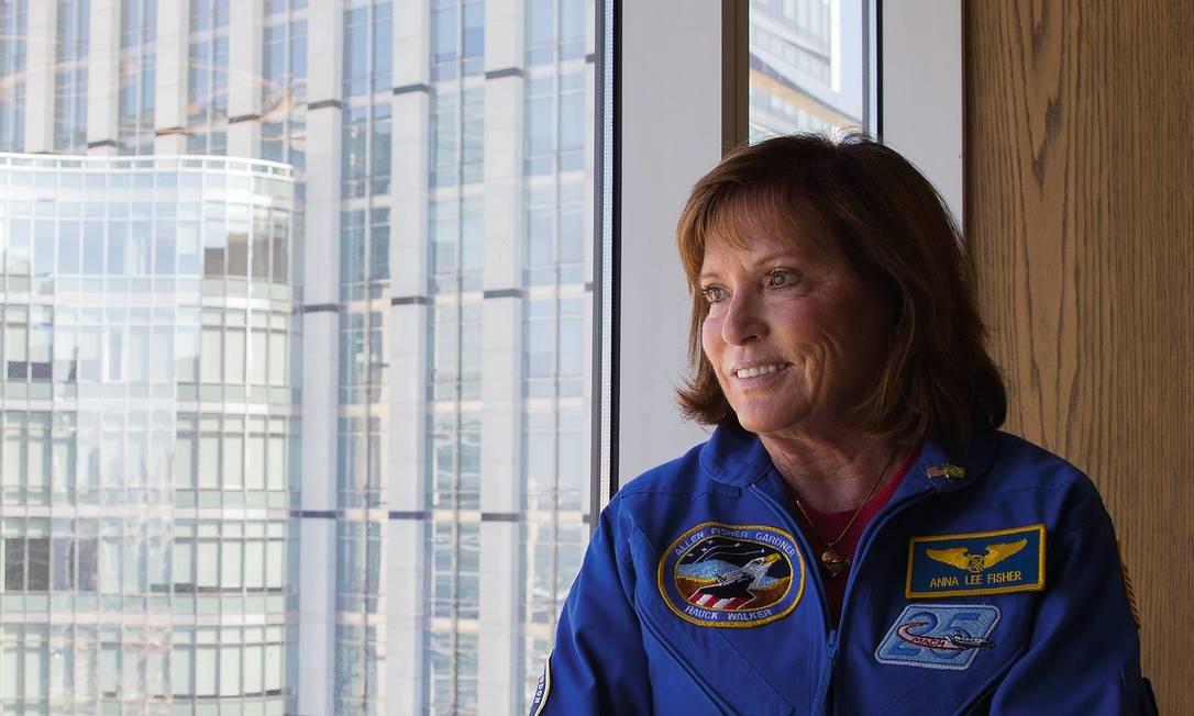 A astronauta americana Anna Lee Fisher tinha um bebê de 16 meses quando embarcou em sua primeira missão espacial. Foto: Caio Guatelli / Agência O Globo