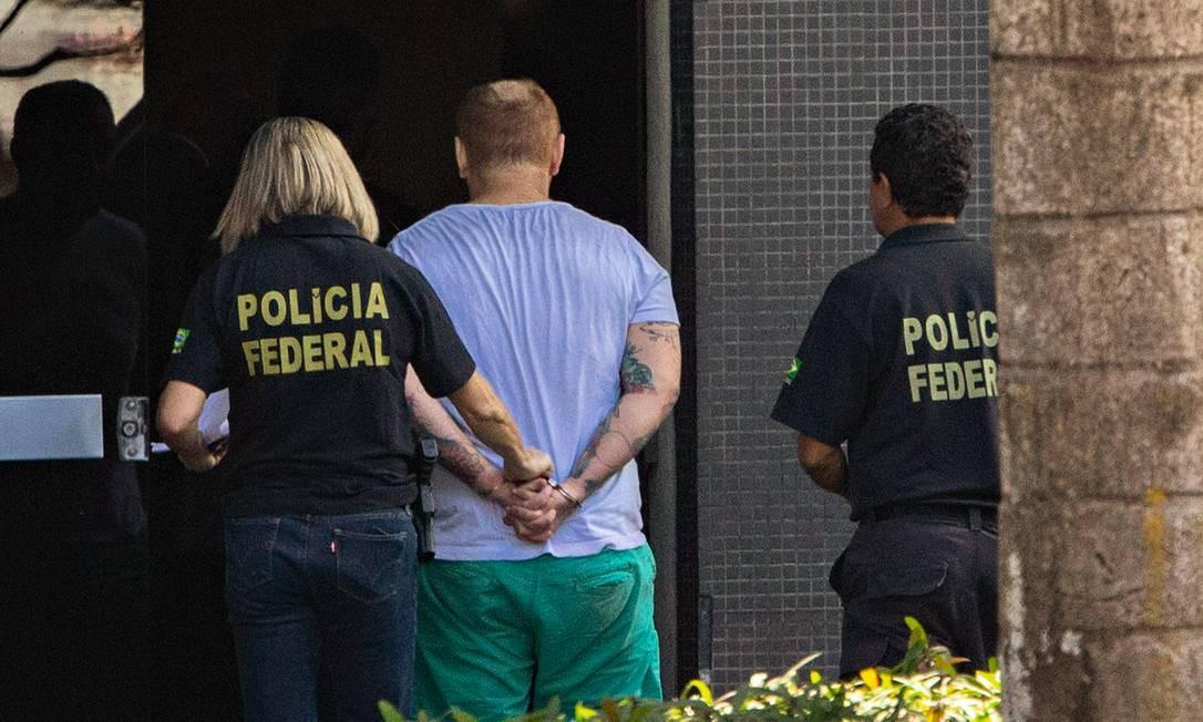 Preso pela Operação Spoofing, que investiga a interceptação de mensagens de autoridades Foto: Daniel Marenco / Agência O Globo