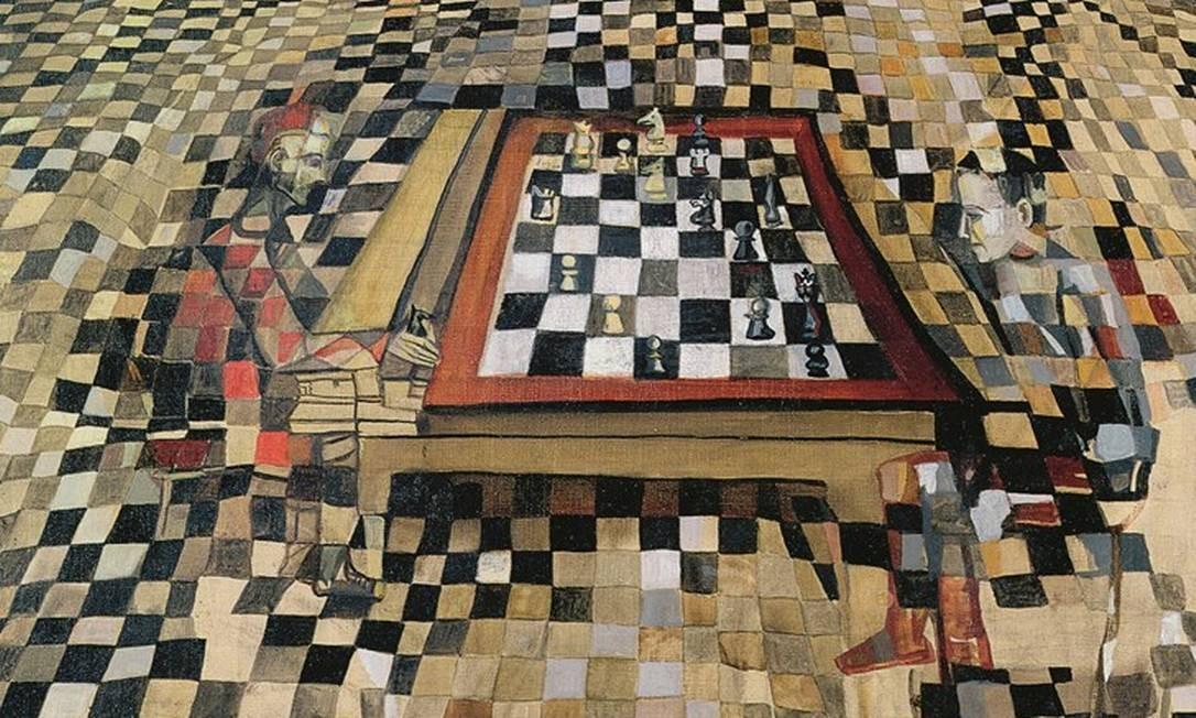  Foto: The Chess Game, 1943 (Maria Elena Vieira da Silva — 1908-92), Bridgeman Images / Keystone Brasil