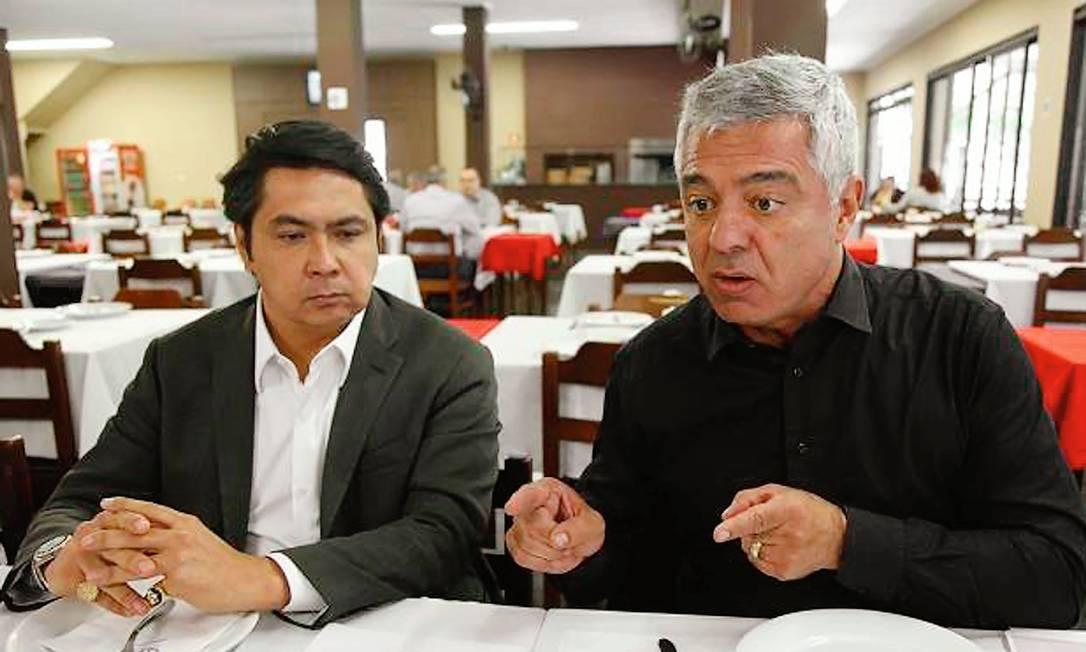 Alexandre Giordano com o senador Major Olimpio (PSL-SP), amigo da Zona Norte de São Paulo. Foto: Reprodução