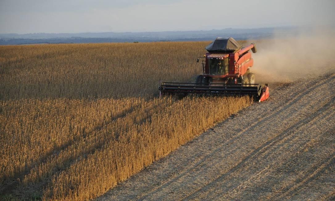 Colheita de soja no Brasil Foto: Creative Commons