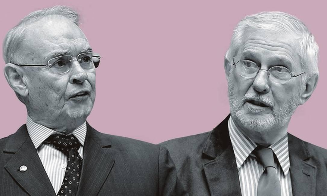 Arolde de Oliveira (à esquerda) e Ibsen Pinheiro. Foto: Montagem sobre fotos de Gilmar Felix / Agência Câmara; e Divulgação / Assembleia Legislativa RS