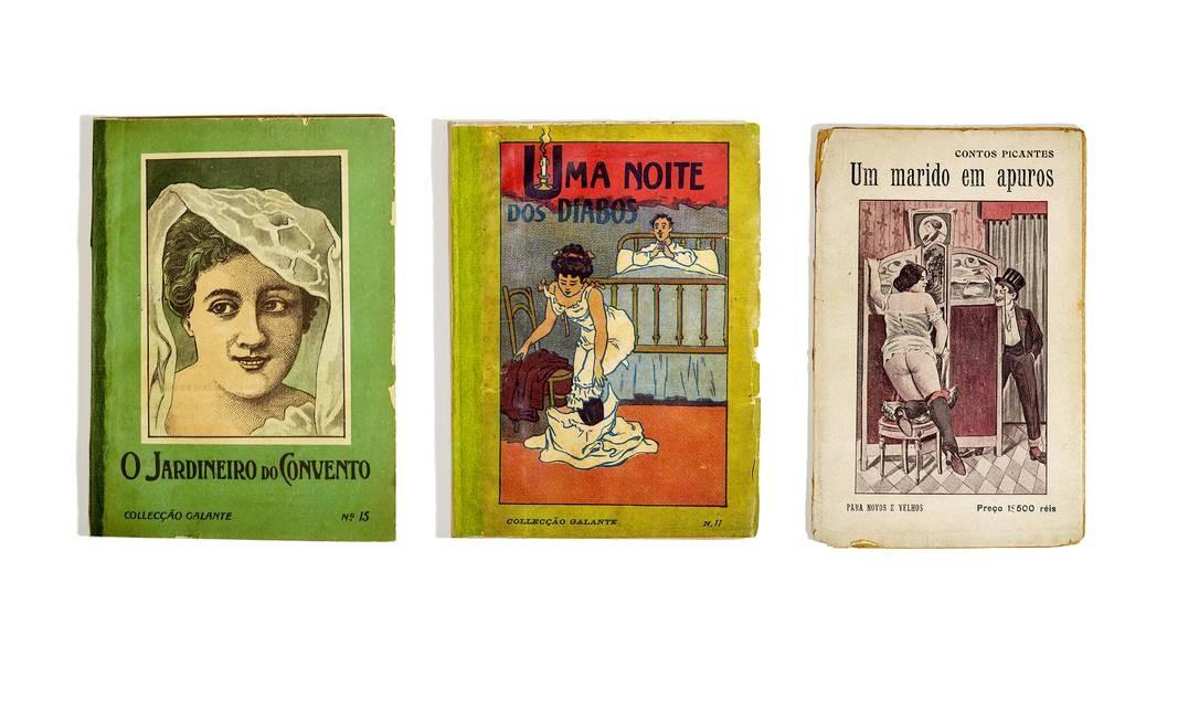 Livretos e folhetos guardados há décadas na divisão de obras raras da Biblioteca Nacional, protegidos da censura e da destruição. Foto: Ana Branco / Agência O Globo