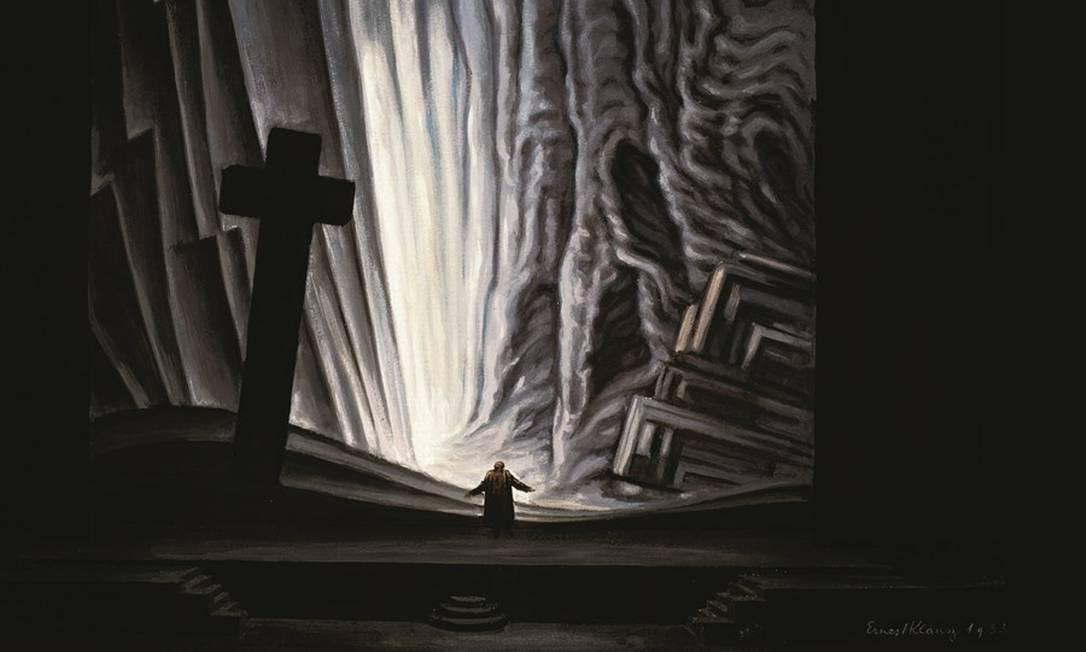 """Encenação do caminho rumo ao Inferno, da montagem de """"Fausto"""" feita pelo cenógrafo Ernest Klausz, em Paris, em 1933. A obra anônima do século XVI teve dezenas de versões. Foto: De Agostini Picture Library / Bridgeman Images / Keystone Brasil"""