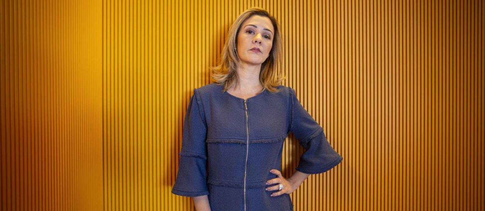 Karina Kufa, em menos de um ano, passou de colaboradora acidental da campanha de Bolsonaro a sua principal articuladora jurídica. Foto: Daniel Marenco / Agência O Globo