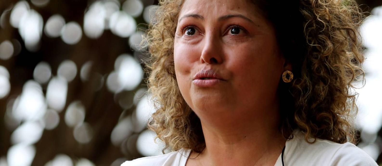 Élida Souza Matos começou em 2005 o relacionamento com Admar Gonzaga Neto, que terminou em 2017, depois de uma madrugada de violência contra ela. Foto: Jorge William / Agência O Globo