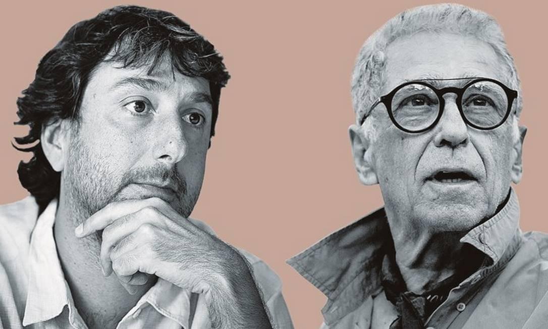 Vicente Amorim (à esquerda) e Neville D'Almeida. Foto: Montagem sobre fotos de Leo Martins / Agência O Globo