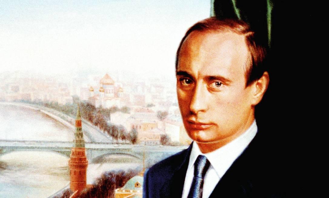 """O primeiro retrato oficial de Putin, feito por Nikas Safronov. O presidente russo é considerado """"refém"""" do regime que construiu, segundo especialistas de Oxford. Foto: Laski Diffusion/ Wojtek Laski / Getty Images"""