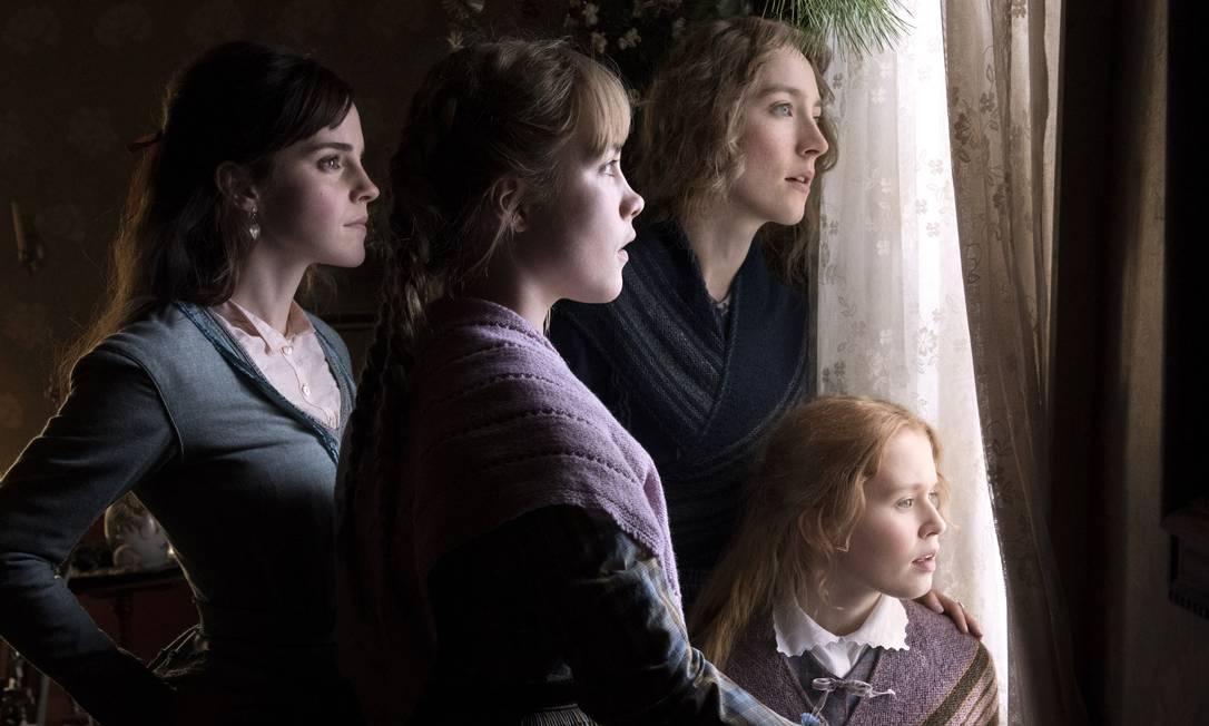"""""""Adoráveis mulheres"""" reúne um elenco feminino estelar, como Meryl Streep, Emma Watson e Saoirse Ronan. Novata atrás das câmeras, Greta Gerwig, de """"Francis Ha"""", quis ressaltar o debate sobre o papel da mulher. Foto: Divulgação"""
