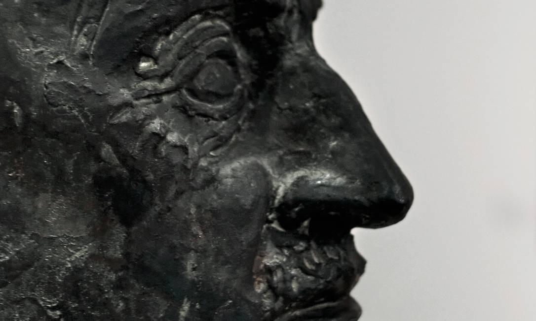 Busto de Emil Nolde, artista que posou como vítima do nazismo, mas que foi um ardente apoiador de políticas antissemitas. Foto: Christian Marquardt / Getty Images Europe