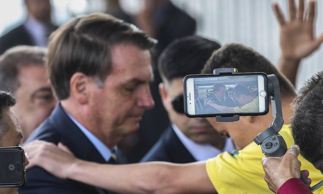 A frustração dos bolsonaristas moderados cresce à medida que se consolida a percepção entre eles de que o presidente não consegue devolver a ordem ao país. Foto: Antonio Cruz / Agência Brasil