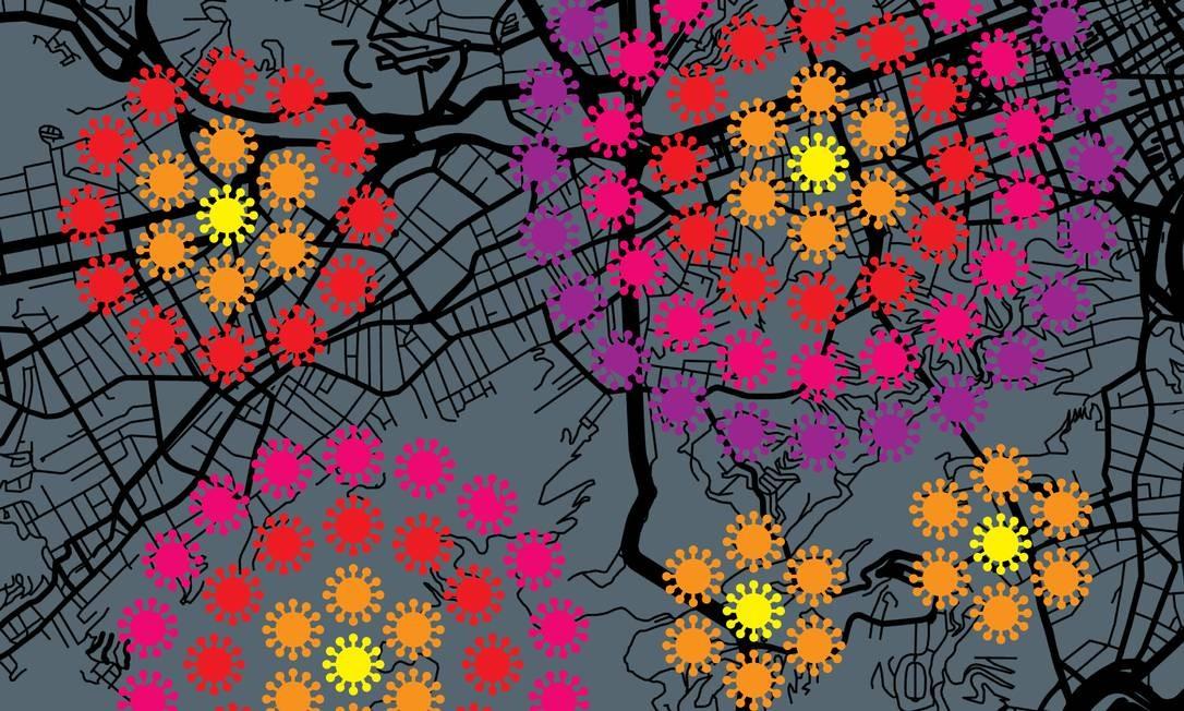  Foto: Arte de Mateus Valadares com mapas de Getty Images e Alami