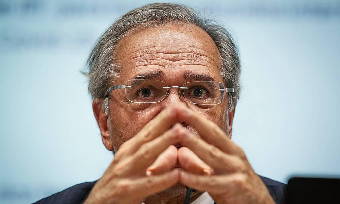 O ministro da Economia, Paulo Guedes Foto: Andre Coelho / Getty Images