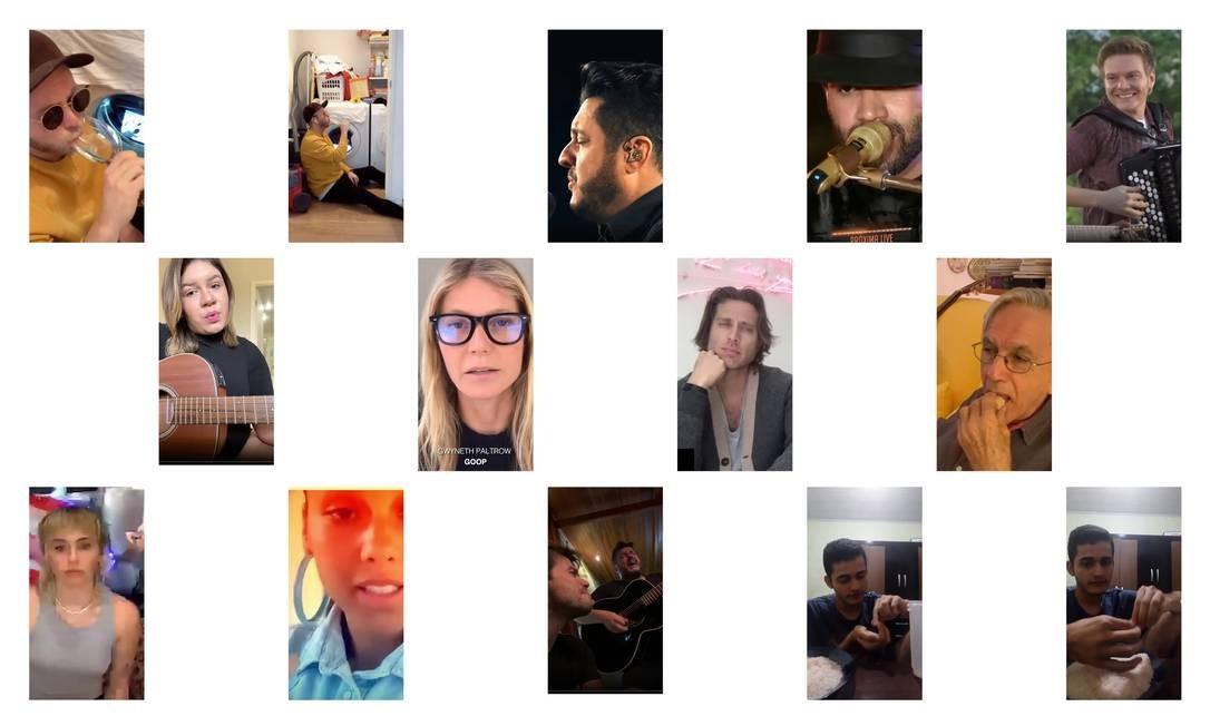 Sertanejos, celebridades de Hollywood, anônimos, Caetano Veloso: ninguém saiu impune da febre das lives. Foto: Reproduções