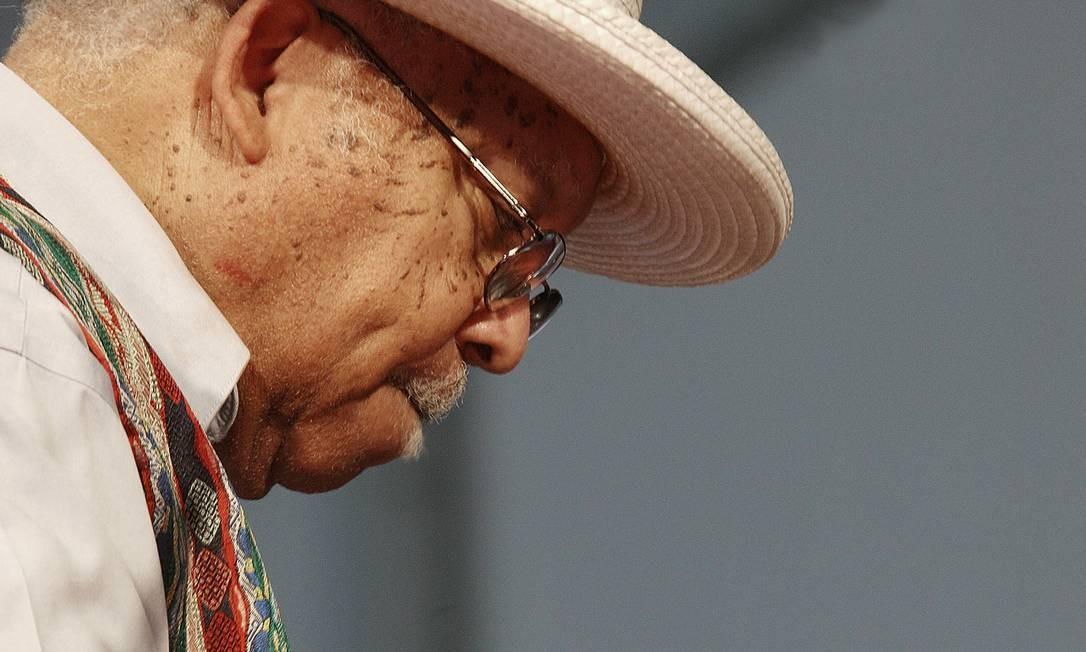 O pianista Ellis Marsalis Jr. em apresentação no Festival de Jazz de Nova Orleans, em 2010. O músico, de 85 anos, morreu em março, vítima do novo coronavírus. Foto: Douglas Mason / Getty Images