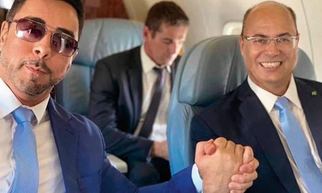 Bretas (à esquerda) e Moro, que criticavam a politização de ministros do STF, são questionados por relações com Witzel (à direita) e Bolsonaro. Foto: Reprodução