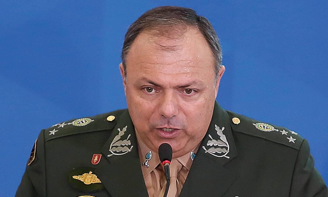 O ministro interino da Saúde, general Eduardo Pazuello. Foto: Anderson Riedel / PR