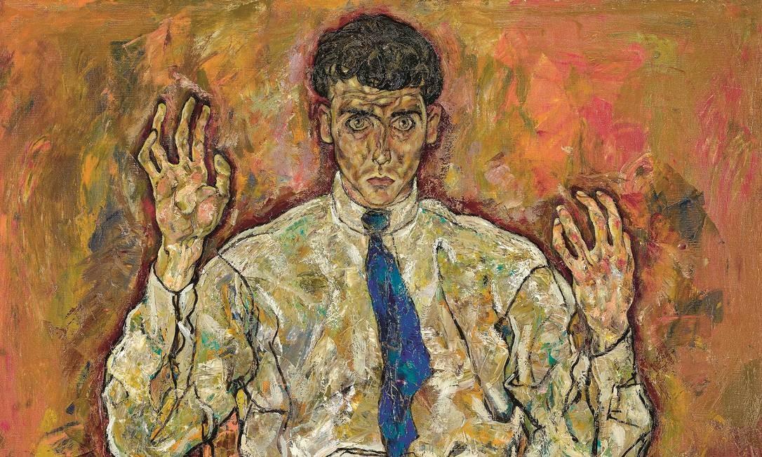  Foto: Portrait of Paris von Gütersloh, 1918 (oil on canvas) / Schiele, Egon (1890-1918) / 140.02 ×110.33 cm / Minneapolis Institute of Arts, MN, USA / Google Art Project / Domínio Público