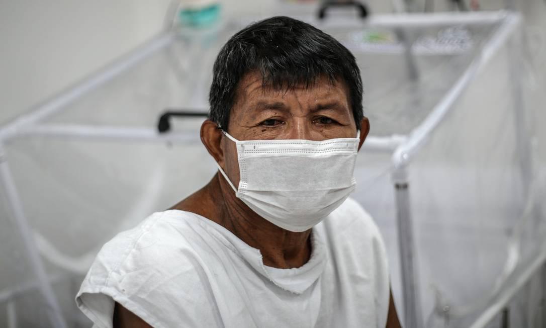Mais de 200 indígenas morreram em decorrência da pandemia, segundo o SUS. A maioria homens com idade média de 66 anos. Mas, entre eles, também perderam a vida 11 bebês com idade entre 3 dias e 11 meses Foto: Andre Coelho / Getty Images