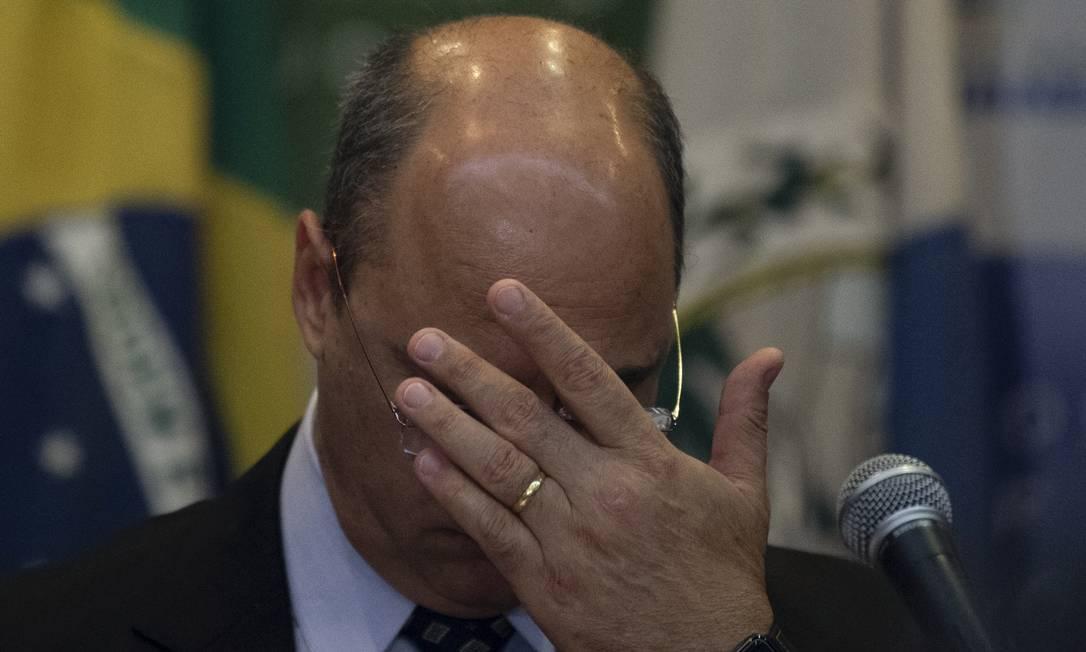 A menos de um mês de sua possível saída, Witzel vê seu quadro se complicar. Foto: Mauro Pimentel / AFP