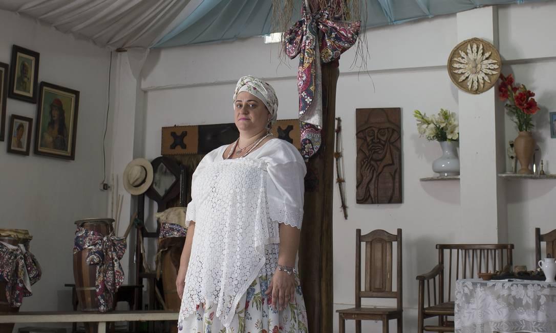 Adepta do candomblé, Kate Belintani perdeu a guarda da filha após uma denúncia anônima sobre supostos abusos no terreiro. Foto: Edilson Dantas / Agência O Globo