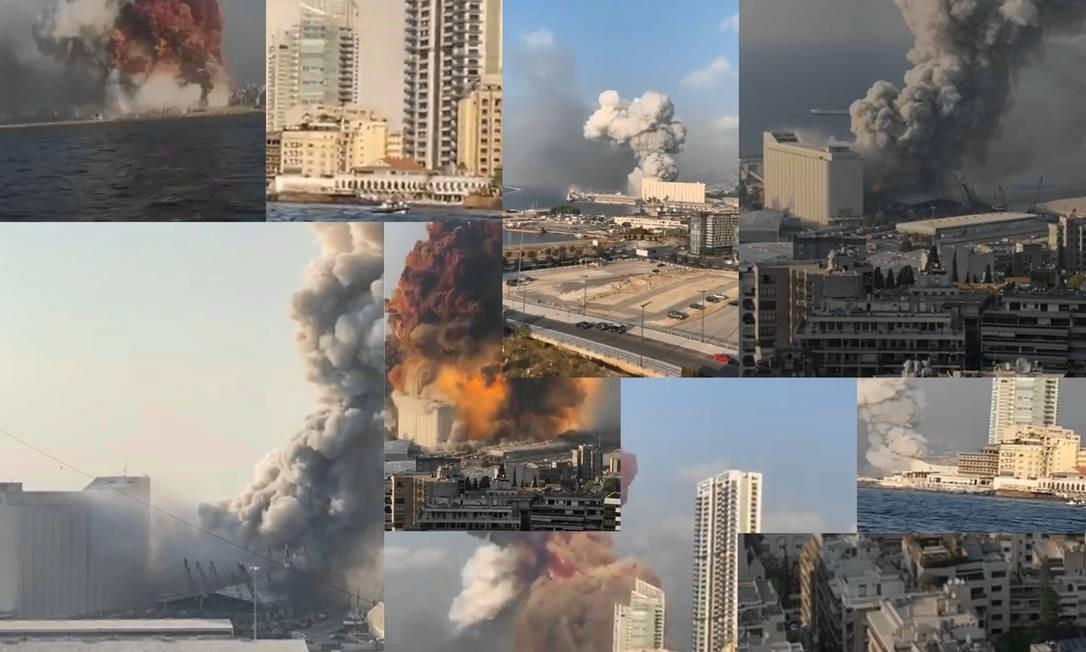 As impressionantes imagens da explosão, que lembrava a de uma bomba atômica, foram gravadas de dezenas de lugares e correram o mundo. Foto: Reprodução