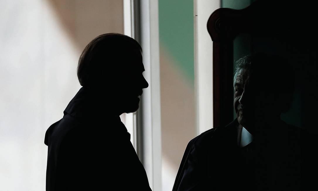 Os ministros Dias Toffoli e Marco Aurélio Mello. Foto: Jorge William / Agência O Globo