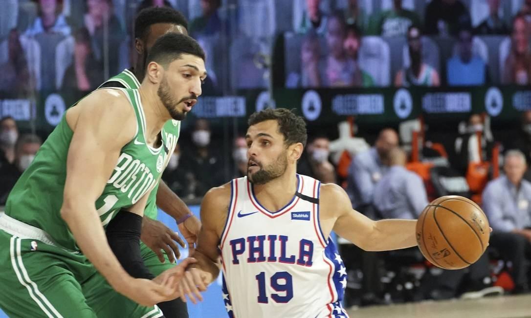 A equipe do jogador brasileiro foi eliminada na primeira rodada dos playoffs da Conferência Leste, após a derrota para o Boston Celtics. Foto: Jesse D. Garrabrant / NBAE / Getty Images