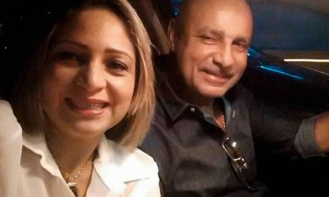 Fabrício Queiroz e sua mulher, Márcia. O ex-assesor de Flávio Bolsonaro foi preso em junho, enquanto Márcia ficou foragida por mais de um mês e só reapareceu depois de sua prisão ser convertida em domiciliar. Foto: Reprodução