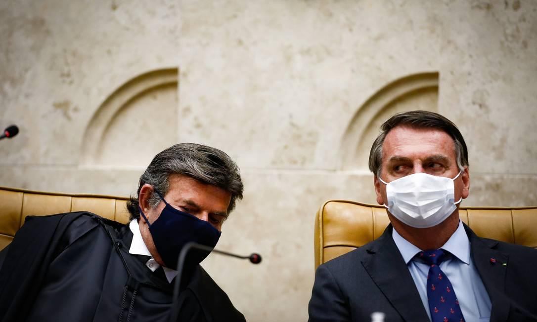 Luiz Fux e Jair Bolsonaro. Foto: Pablo Jacob / Agência O Globo