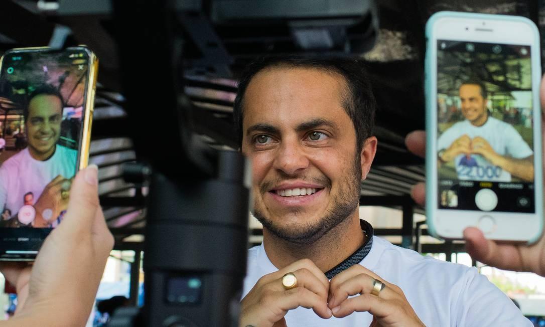 Em sua segunda eleição, Thammy aposta nos 3 milhões de seguidores nas redes sociais para conquistar uma cadeira na Câmara Municipal de São Paulo. Foto: Edilson Dantas / Agência O Globo