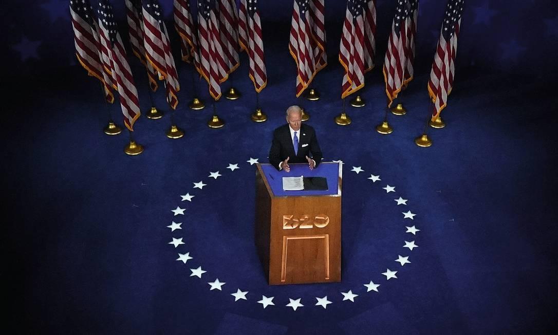 O democrata Joe Biden teve mais de 72 milhões de votos, um recorde histórico no país para um candidato presidencial. Trump teve mais de 68 milhões até a tarde da quinta-feira 5. Foto: Olivier Douliery / AFP