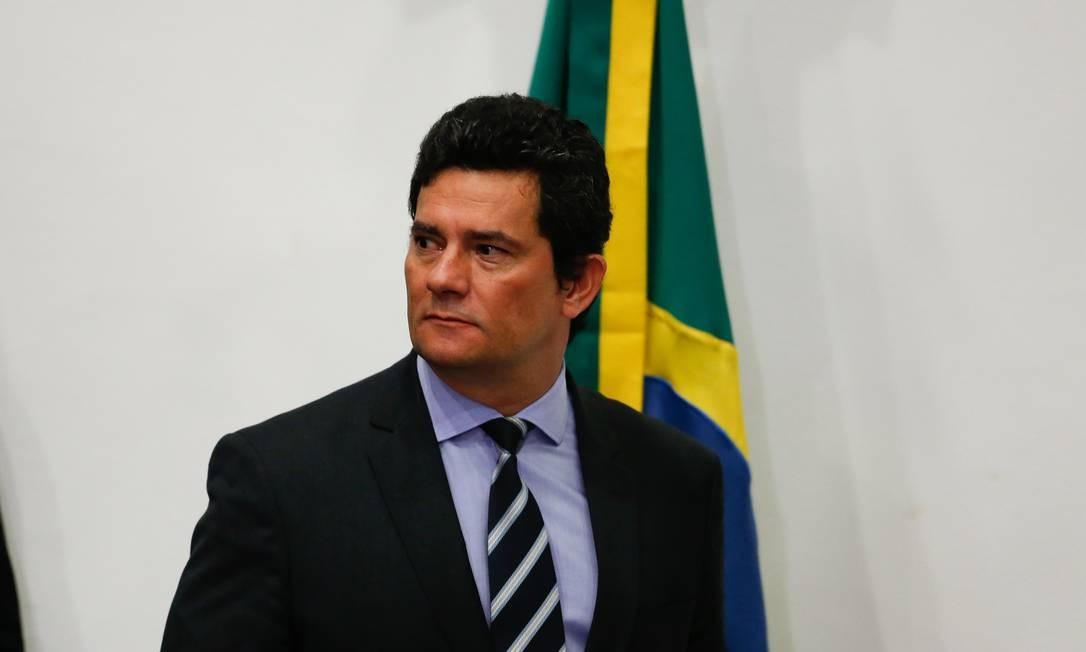 O então ministro da Justiça Sergio Moro Foto: Pablo Jacob / Agência O Globo / 24.4.2020