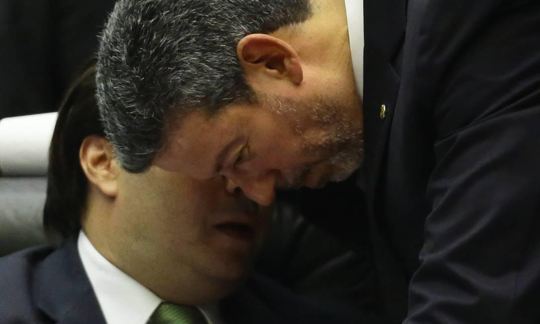 Ex-aliados, Arthur Lira e Rodrigo Maia entraram em choque neste ano pelo controle da Câmara dos Deputados. Foto: Jorge William / Agência O Globo