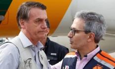 Zema (de óculos) evitou críticas à gestão de Bolsonaro sobre a pandemia da Covid-19. Foto: Isac Nóbrega / PR