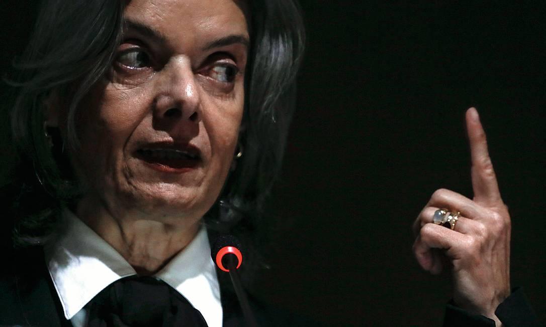 Ministra Cármen Lúcia, do STF Foto: André Coelho / Agência O Globo