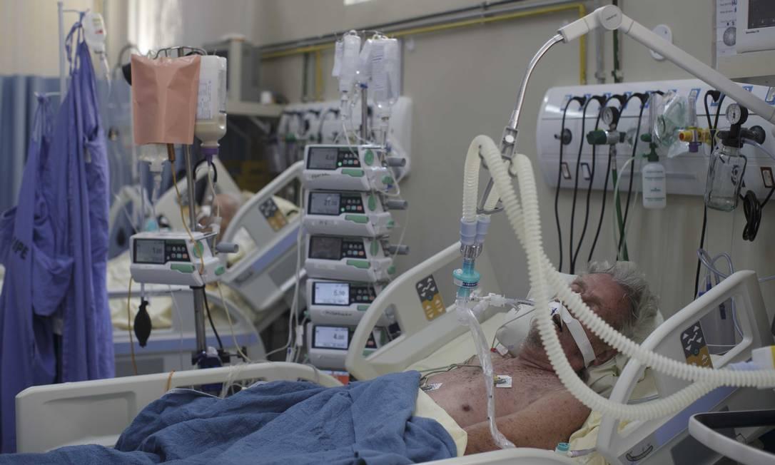 UTI de Coronavírus do Hospital Universitário Pedro Ernesto, Rio de Janeiro. Foto: Márcia Foletto / Agência O Globo