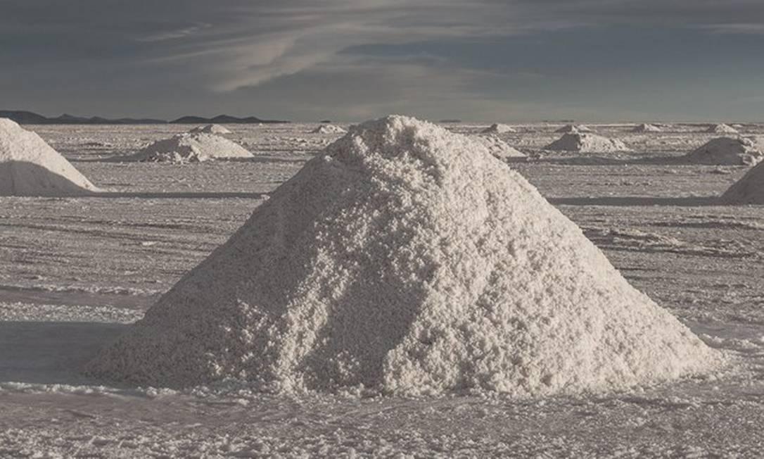 No Salar de Uyuni ficam as maiores reservas de lítio do mundo. Foto: Marcelo Perez Del Carpio / Bloomberg via Getty Images