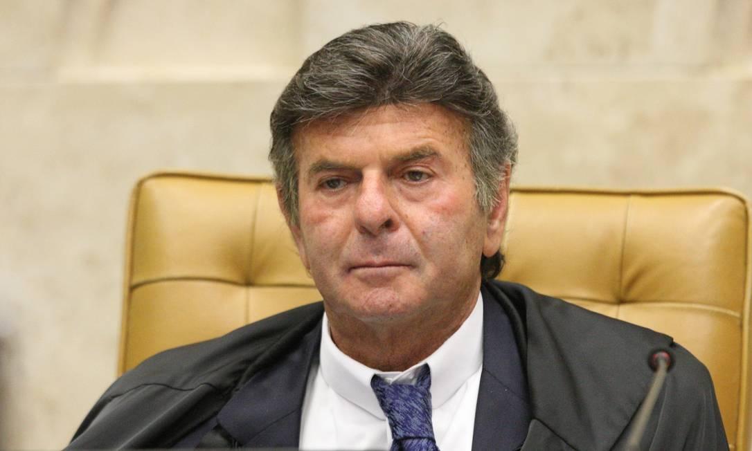 Luiz Fux, presidente do STF Foto: Nelson Jr. / Agência O Globo