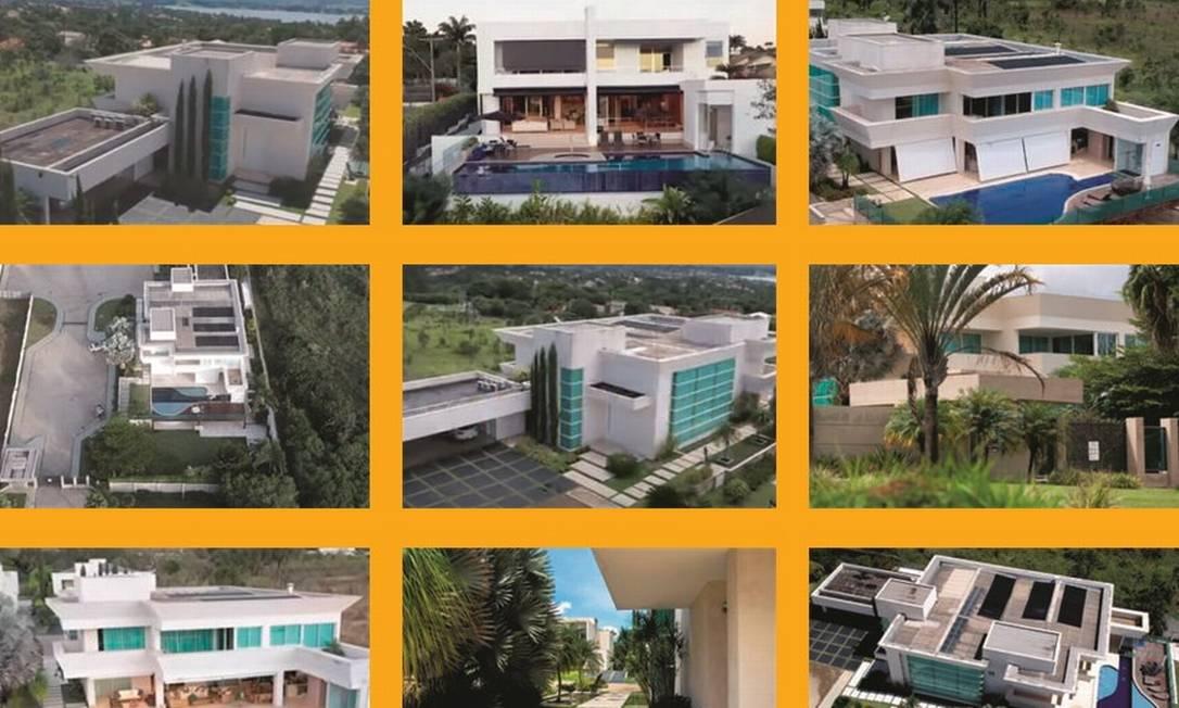 Imagens da mansão de R$ 6 milhões adquirida pelo filho mais velho do presidente Jair Bolsonaro. Foto: Reproduções