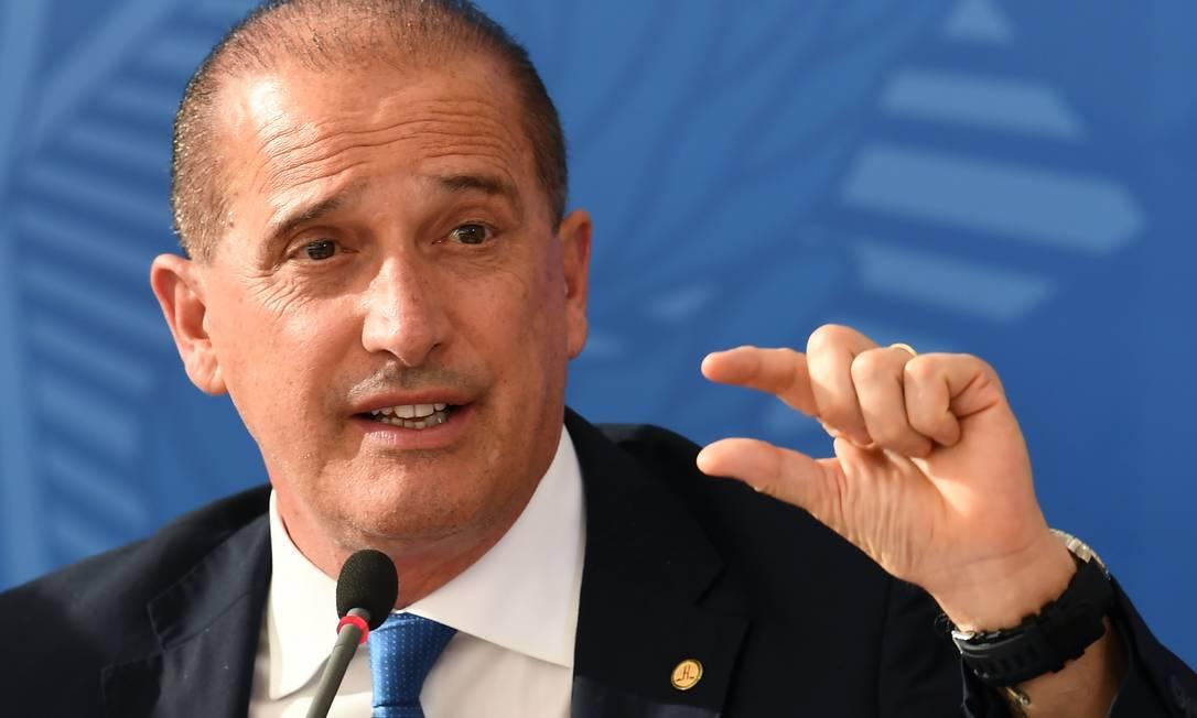 Ministro Onyx Lorenzoni. Foto: Evaristo Sa / AFP