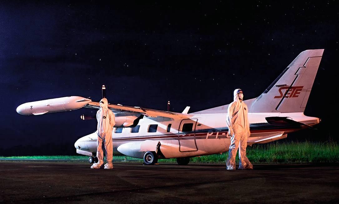 O piloto de avião Thiago Aparecido Alexandre, de 36 anos, triplicou o número de horas de voo por mês durante a pandemia. Foto: Arquivo pessoal
